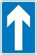 Road sign - one way